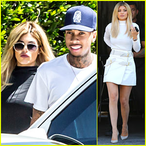 Kylie Jenner Looks White Hot at the Studio!