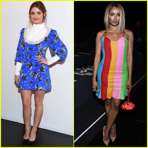 Lucy Hale & Kat Graham Sit Front Row for Jeremy Scott's NYFW Show