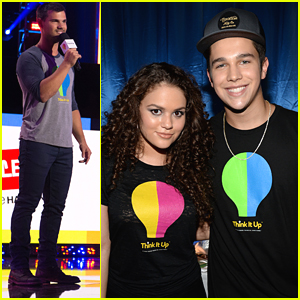Madison Pettis 'Thinks It Up' With Austin Mahone & Taylor Lautner
