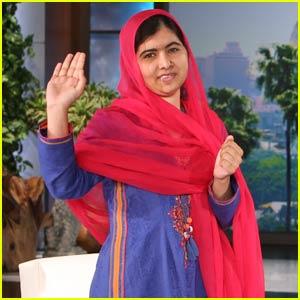 Young Nobel Peace Prize Winner Malala Yousafzai Stops by 'Ellen' (Video)