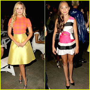 Olivia Holt & Maddie Ziegler Bring The Bright Colors To Christian Siriano's NYFW Runway Show