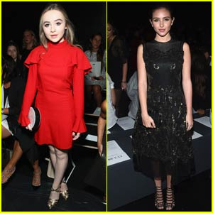 Sabrina Carpenter & Ryan Newman Hit Up More NYFW Presentations!