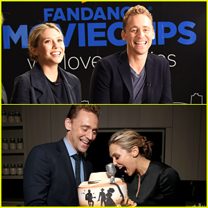 Elizabeth Olsen Can't Get Over This Cool Cake!