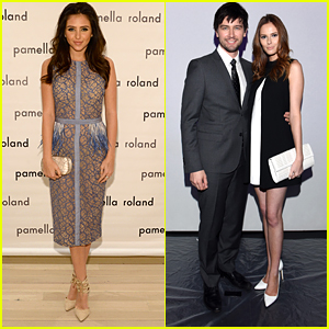 Torrance Coombs Joins Fiance Alyssa Campanella & Ryan Newman For NYFW