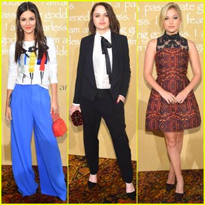 Victoria Justice, Joey King, & Olivia Holt Are 'Alice + Olivia' Girls in NYC!