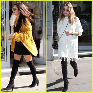 Shay Mitchell & Ashley Benson Shop Around Milan Ahead Of MTV EMAs