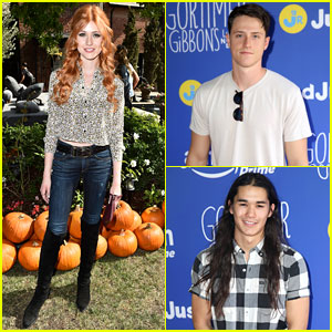 Katherine McNamara & Shane Harper Bring Some 'Happyland' to Just Jared Jr.'s Fall Fun Day!