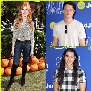 Katherine McNamara & Shane Harper Bring Some 'Happyland' to Just Jared Jr.'s Fall Fun Day!
