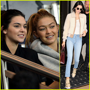 Kendall Jenner & Gigi Hadid Check Out Some Soccer in Paris!