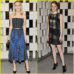 Kiernan Shipka & Emma Stone Step Out For Hammer Museum Gala 2015