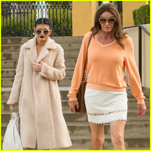 Kylie Jenner Grabs a Bite to Eat With Caitlyn in Calabasas