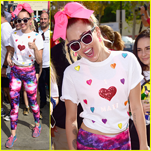 Miley Cyrus Joins L.A County Walk To Defeat ALS