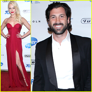 Maksim Chmerkovskiy & Peta Murgatroyd Dress To The Nines For JDRF's Promise Ball