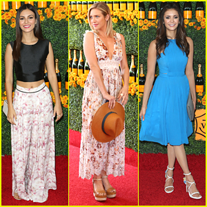 Victoria Justice & Nina Dobrev Finally Take A Picture Together At Veuve Clicquot Polo Classic