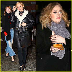 Jennifer Lawrence & Emma Stone Grab Dinner with Adele in NYC!