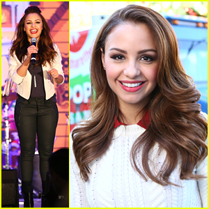 Aimee Carrero Hosts Americana At Brand's Tree Lighting With Pop-Up Santa