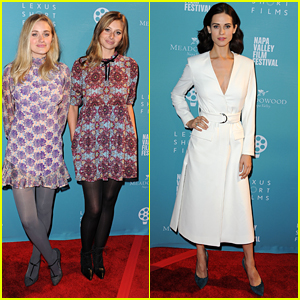 Aly & AJ Michalka Reunite With Lyndsy Fonseca at Napa Valley Film Festival