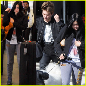 Ariel Winter & Boyfriend Laurent Claude Gaudette Travel for the Holiday Weekend