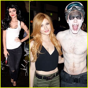 Victoria Justice Dresses as Amy Winehouse at Just Jared's Halloween Party!