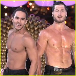 Carlos PenaVega Does a Shirtless Holiday Dance for 'DWTS' Finale (Video)