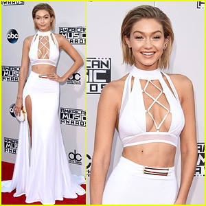 Gigi Hadid Is White Hot with Temporary Short Hair at AMAs 2015!