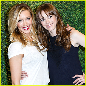 Photo of Danielle Panabaker & her friend actress  Katie Cassidy - California