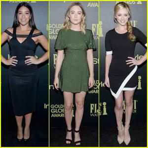 Gina Rodriguez & Saoirse Ronan Hit Up Pre-Golden Globes Party Amid Award Buzz!
