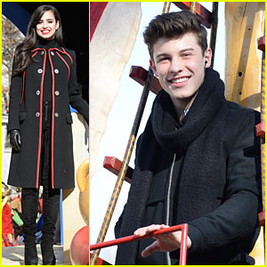 Shawn Mendes & Sofia Carson Float Their Way Through Thanksgiving Day Parade