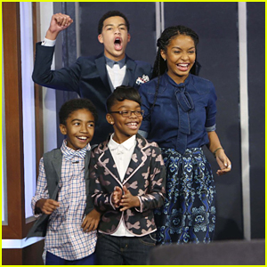 Yara Shahidi & Marcus Scribner Make 'Jimmy Kimmel Live' Debut With Marsai Martin & Miles Brown