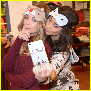 Shay Mitchell & Ashley Benson Have Holiday Shopping Spree At American Eagle Outfitters