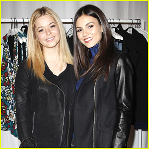 Victoria Justice & Sasha Pieterse Hit Up Alice + Olivia's Retreat At Lakers Game