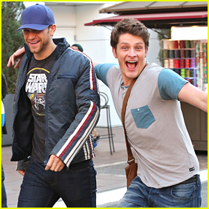 Brett Dier Goofs Around The Grove With Keegan Allen
