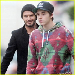 Brooklyn Beckham Gets In Some Shopping Time with Dad David!