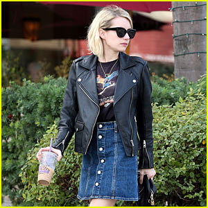 Emma Roberts Gets in Some Christmas Eve Pampering