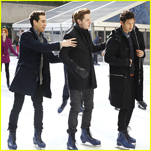 Katherine McNamara & 'Shadowhunters' Cast Enjoy Ice Skating for ABC Family's Winter Wonderland