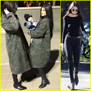 Kendall Jenner Hangs With Kylie & Their Cute Nephew Reign Before His First Birthday