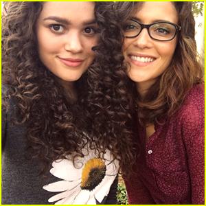 Madison Pettis Shares Cute Selfie With Italia Ricci On 'Late Bloomer' Set