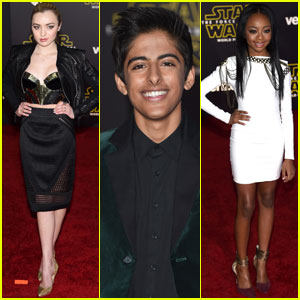 Peyton List & 'Bunk'd' Cast Hit Up 'Star Wars: The Force Awakens' Premiere