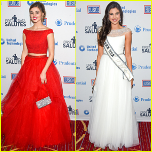 Sadie Robertson & Miss Teen USA Katherine Haik Glam Up For USO Armed Forces Gala 2015