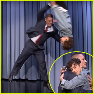 Did Wrestler John Cena Flip Troye Sivan on 'The Tonight Show'?!