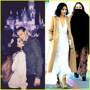 Vanessa Hudgens Celebrates Christmas Eve at Disneyland with Austin Butler!