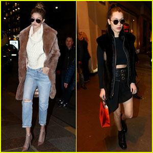 Gigi Hadid Goes Shopping in Paris With Sister Bella