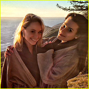 Lea Michele Celebrates New Year's Eve in Paradise with Becca Tobin!