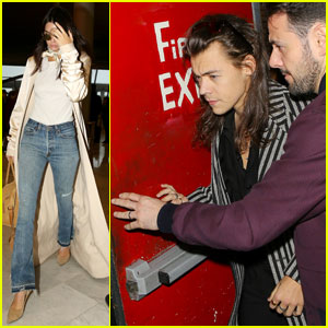 Harry Styles Attends Pal's Birthday Bash With Kendall Jenner