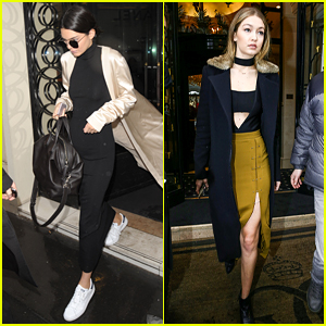Kendall Jenner & Gigi Hadid Reunite in Paris for Fashion Week