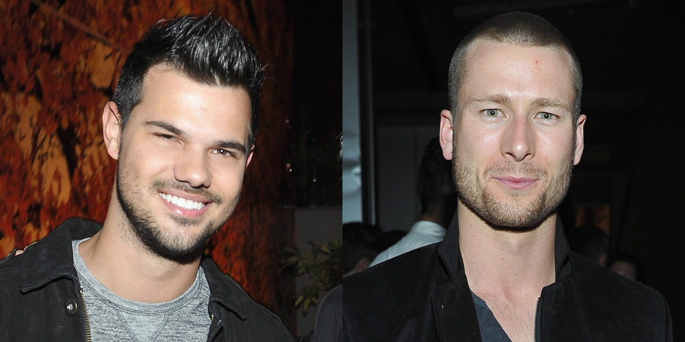 Taylor Lautner Glen Powell Party With Kelly Klein During Golden