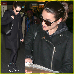 Lea Michele Teases New Secret Project In NYC
