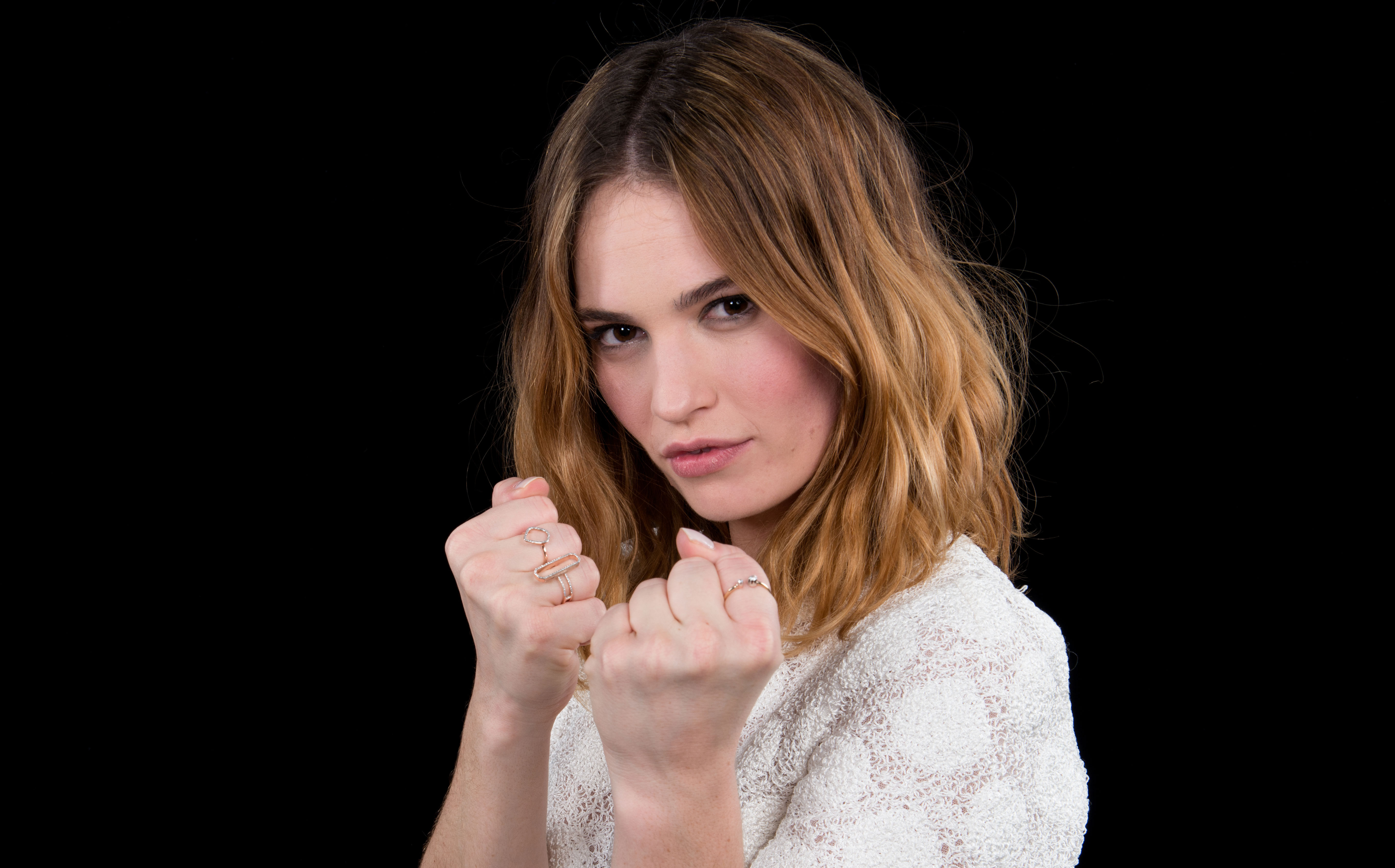 Lily James Image: Lily James Loved The Fighting & Horror In 'Pride And