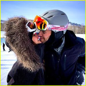 Nina Dobrev Smooches Boyfriend Austin Stowell During Fun Snowboarding Trip!