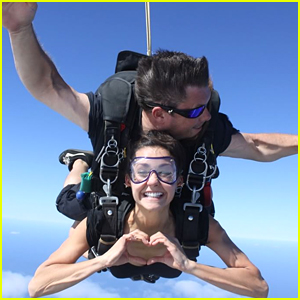 Nina Dobrev Rings In 2016 by Skydiving - Watch The Video!